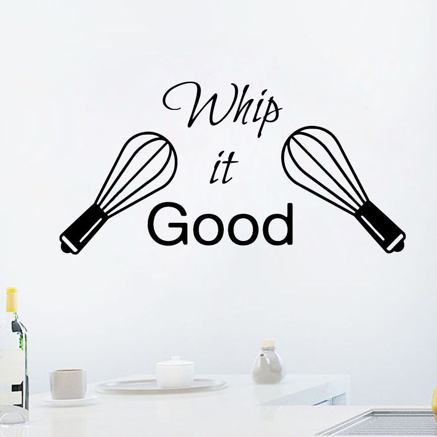 Kitchen Vinyl Decal Kitchen Decor Sticker Quote Whip it Good Wall Decal Kitchen Dining Room Decor Vinyl Wall Decals AY339