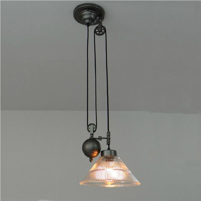 New Keuken rise & fall Katrol Hanglampen katrol hanglamp retro #XO67