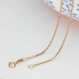 Image 3 - Tuyệt Đẹp Chắc Chắn Au750 18K Trắng Hoa Hồng Vàng Dây Chuyền Nữ Hộp Liên Kết Vòng Cổ 16 Inch 18 Inch