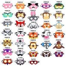 Mask Super Hero Wolf Rabbit Animals Face Giraffe Tiger Mask Kids Children Birthday Costume DIY Masquerade Eye Mask Cosplay Xmas недорого