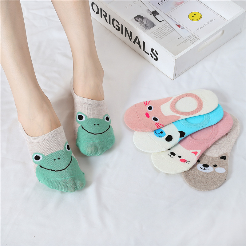 Gentle Dreamlikelin Soft Comfortable Cotton Girl Womens Socks Panda Rabbit Frog Low Ankle Female Invisible Socks Strengthening Waist And Sinews Socks