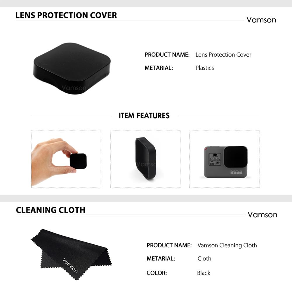 Image 5 - Vamson For GoPro Hero6 LCD Display Screen Protector For Go pro Hero7 5 Black Camera Lens Accessories Protective Film Case VP710G-in Sports Camcorder Cases from Consumer Electronics