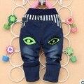 A la Venta 2015 ropa de Bebé Otoño nuevos bebés de los pantalones vaqueros con los ojos de impresión suave material de buena calidad boy pantalones B102