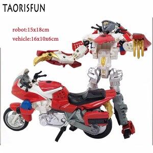 Image 3 - Taorisfun 합금 및 플라스틱 2 in 1 변형 로봇 자동차 차량 모델 완구 어린이 완구 소방차 변환 로봇