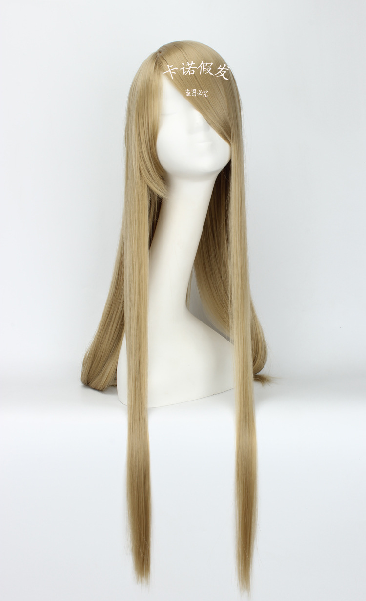 Good quality Kamigami no Asobi hair accessories 95cm 320g synthetic straight hair jewelry for Balder Hringhorni cosplay wigs top quality 2014 charming medium hairstyle mix color capless synthetic hair wigs