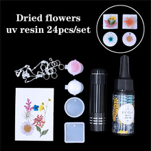24Pcs/Set QiaoQi DIY UV Resin Casting Mold Kit Pendant Silicone Mould Making epoxy resin molds for Jewelry DIY pearls and jewels