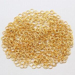 Кольца с золотыми кольцами, 1 упак./лот, 4, 5, 6, 7, 8, 10, 12, 14, 16 мм, одиночные Открытые Сплит-кольца для самостоятельного изготовления ожерелий, юве...