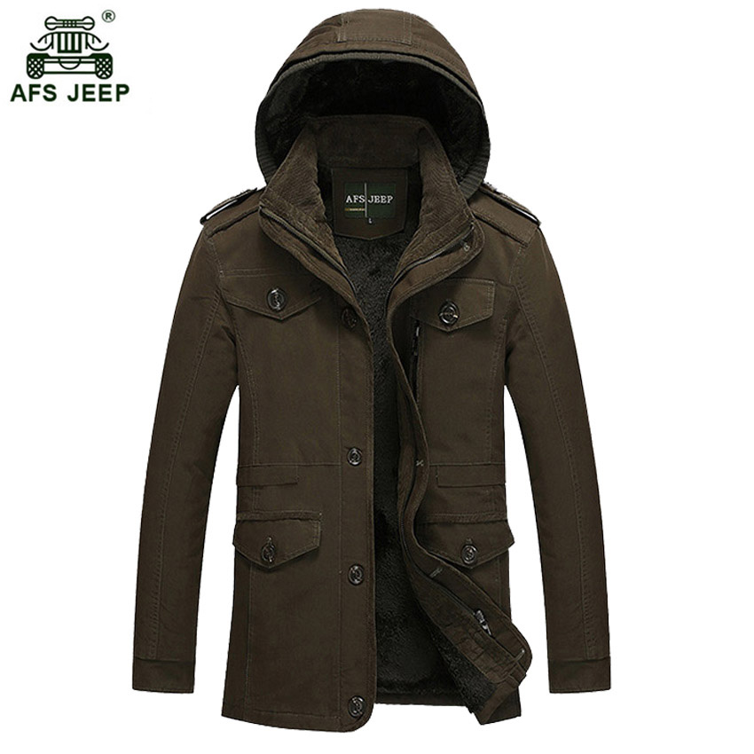 New Fashion Men s Fleece Overcoat Thickening Winter Coat Parka Mens Super Warm Greatcoat Cotton Jacket
