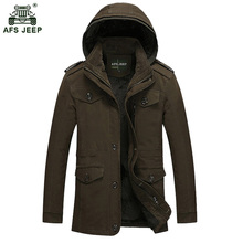 Новая мода Для мужчин флис пальто Утепленное зимнее пальто парка Для мужчин S Супер Теплый Шинель хлопковая куртка Азии L-6XL 120hfx