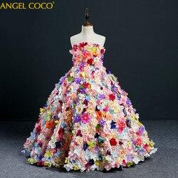 Одежда для девочек; пышное платье из тюля для девочек; карнавальный детский костюм; платье принцессы с цветочным узором для девочек; платье ...