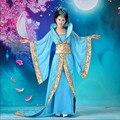 Las Mujeres de lujo de Cosplay Del Traje ropa de baile princesa de hadas juego de la espiga hanfu reina ropa antigua China