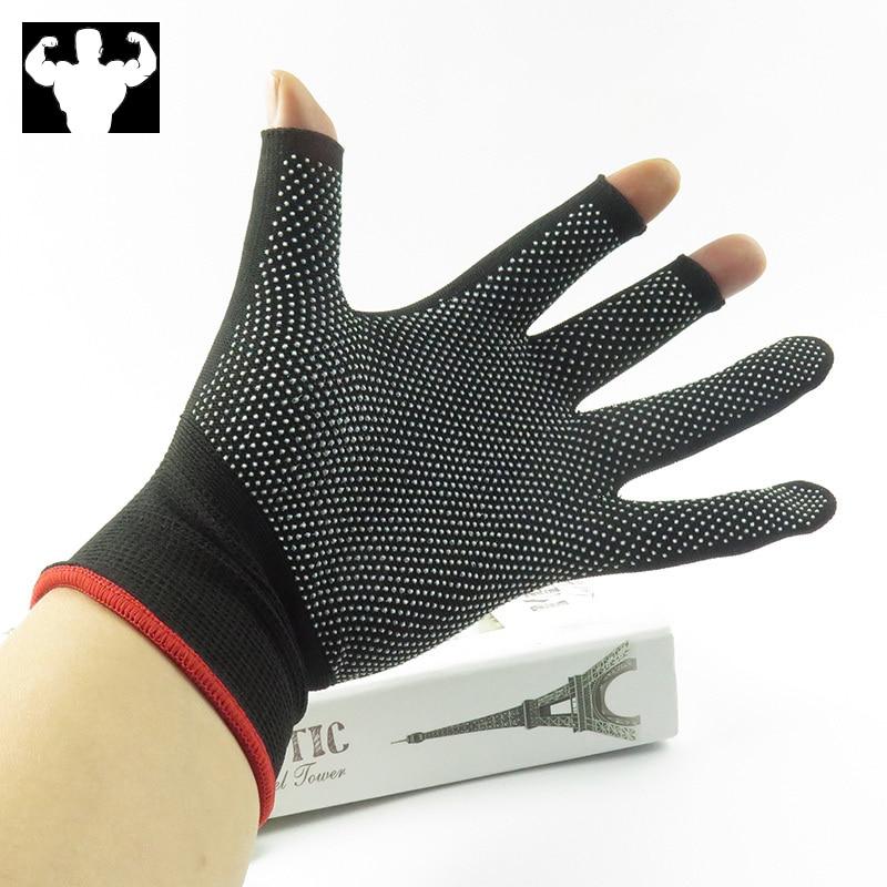 Image 5 - Nylon Fishing Gloves Men's Outdoor Non slip Fishing Protective Gloves Three Finger Cutting SportsCycling Gloves Cycling Gloves-in Fishing Gloves from Sports & Entertainment