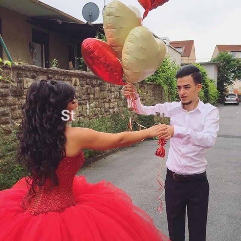Baratos Rojo de La Boda Vestido de Bola del estilo de País de 2017 ...