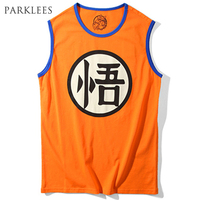 Dragon Ball Z Tank Tops Men 2017 Summer Goku Printed Mens Tank Top Cotton Vest Man