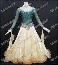 New Competition ballroom Standard dance dress,juvenile dance clothing, women dress,Salsa dance dress,Tango dance dress B-5005
