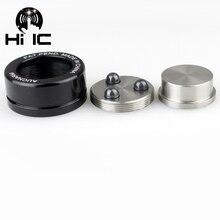 4 adet HIFI Ses Hoparlör Amplifikatör Seramik boncuk Çelik topu Kaydırma Anti amortisör Ayak Ayak Tırnak Pad Titreşim taban