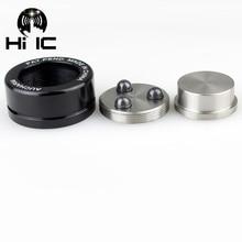 4 pcs HIFI Speaker Amplificador de Áudio de Cerâmica esferas de Aço bola Rolar Anti shock Absorber Pé Pés Prego Almofada de Vibração base