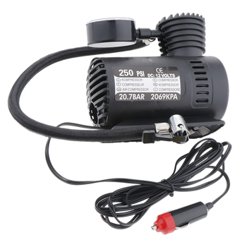 300 PSI 12V Portable Car Electric Inflator Pump Air Compressor Electric Tire Tyre Inflator Pump with Guage for Auto Motorcycle image
