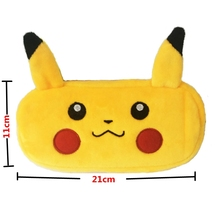 лучшая цена Pencil Case for Girls Boys Pokemon Plush Pencil Box School Cute Large Capacity Pencilcase Stationery School Supplies