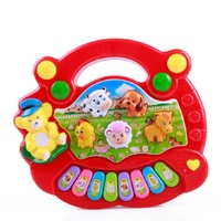 Cute Cartoon Farm Piano Music Baby Toys Early Education Multifunctional Baby Rattle Mobile Gifts Farm Piano