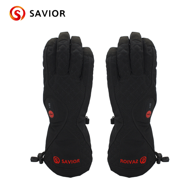 SAVIOR S-07 Winter Heated Glove for skiing,fishing,riding,hunting,outerdoor sports,controlled temperature savior outdoor motorbike battery heated glove fishing waterproof riding racing heating man warming 40 65 degree leather en13594