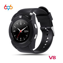 696 V8 Smart Watch Fitness Tracker Bluetooth Smartwatch Touch Screen Wrist Watch with Camera SIM Card Waterproof Smartwatch(China)