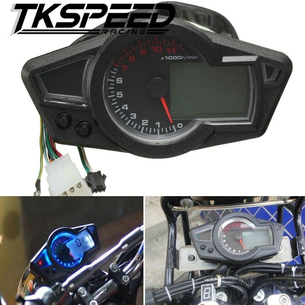 Motorcycle LCD Speedometer Motorcycle Digital Odometer Speedometer Tachometer Fit for 2&4 Cylinders цена