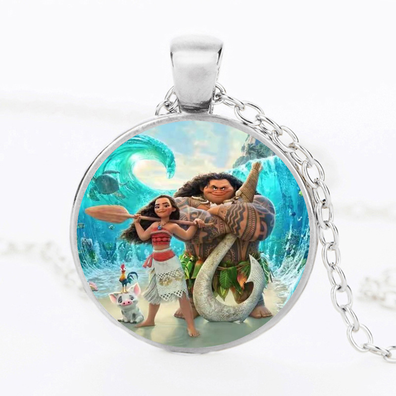 Moana Maui boneca Pua Heihei Necklace action figure toys 2017 New Movie Moana Maui Hook model Oyuncak for kids party supply gift gonlei moana waialiki maui heihei abs weapons light sound saber fishing action figures moana adventure abs toy lightsaber gift