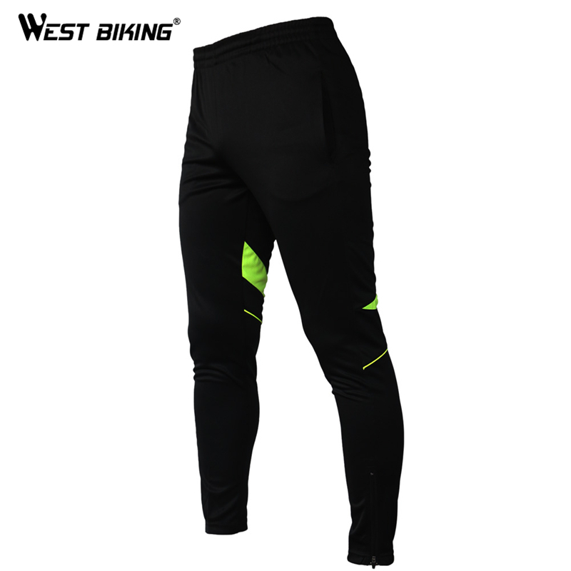 WEST BIKING Men Women Long Cycling Pants Elastic Fleece Riding Bike Breathable Bicycle Pant MTB Outdoor Sport Cycle Wear