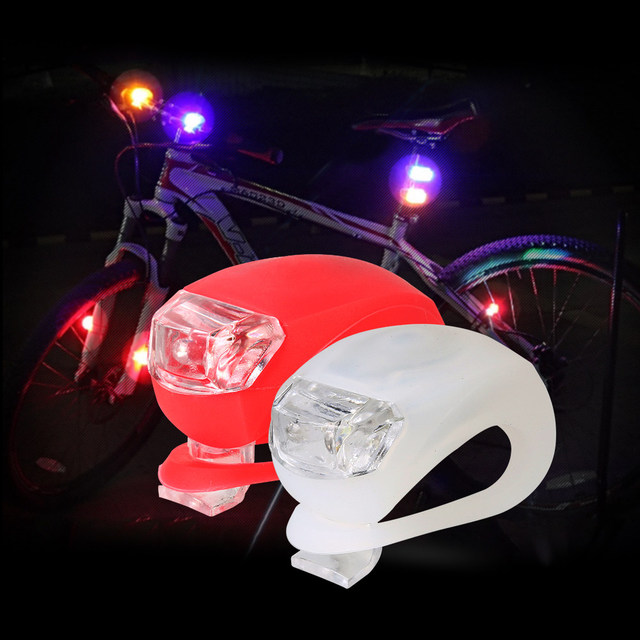 Mini Brillant Waterproof SILICON Bike Bicycle Cycling Beetle Warning Light LED Front Light Rear Tail Lamp free shipping BL8031