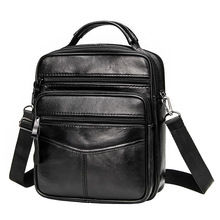 Сумка кросс боди мужская из натуральной кожи, повседневный мессенджер в деловом стиле, винтажная большая сумочка на молнии, чемоданчик на плечо