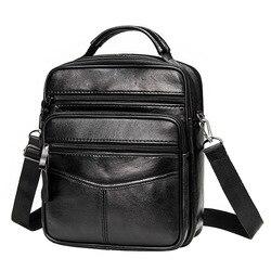 Couro genuíno do sexo masculino crossbody saco ocasional de negócios de couro dos homens mensageiro saco do vintage grande bolsa com zíper bolsas de ombro