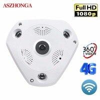 Wireless Wi Fi IP Camera 3G 4G Fish eye Lens 1080P HD Wide Angle CCTV Home Surveillance 3D VR 2 Way Audio Night Vision Cameras