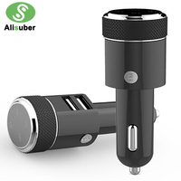 Alisuber 3 1A Dual USB Car Charger Bluetooth Car Kit Music Player FM Transmitter Modulator GPS