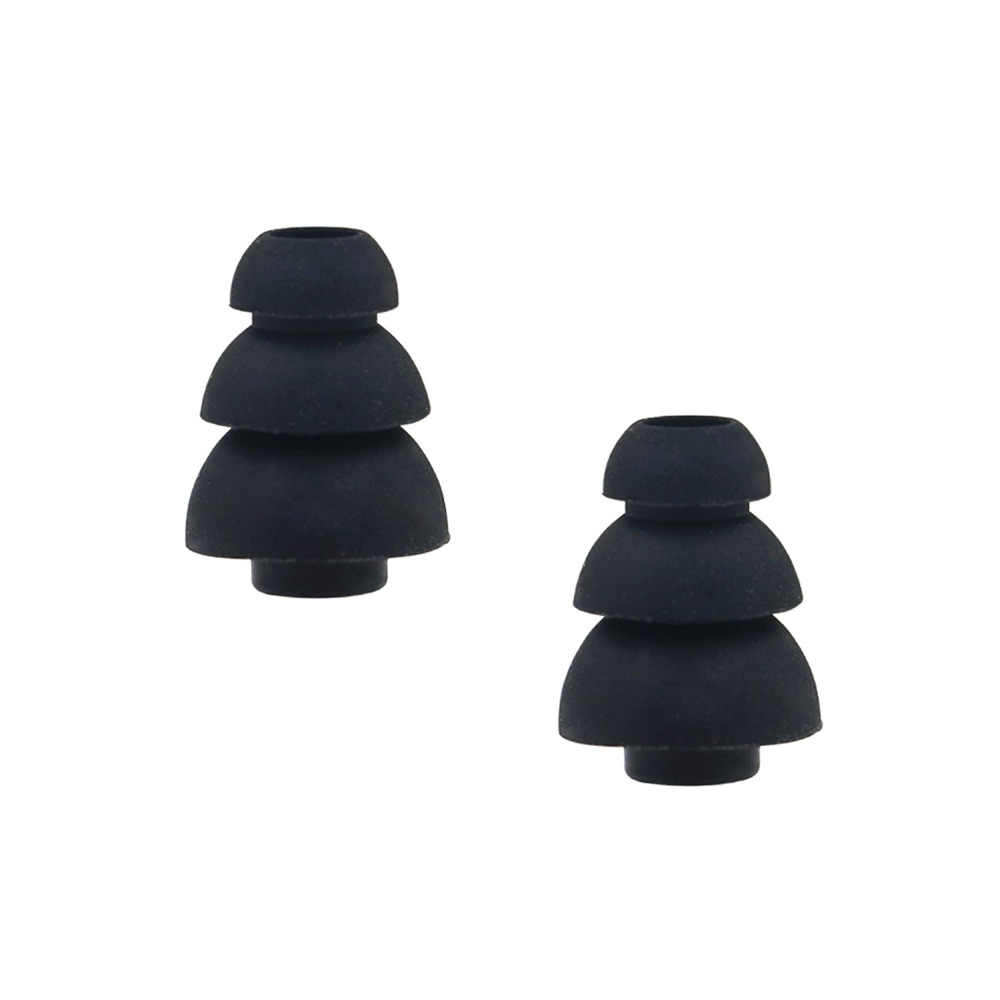 6 par (S/L) rozmiar potrójne trzy kołnierz hałas izoluj silikonowe poduszki wymienne poduszki na uszy pasuje do większości w ucho słuchawki douszne słuchawki