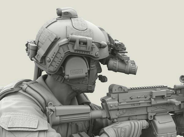 1/35 Resin Kits US Army SEALs Machine Gunner 1pc