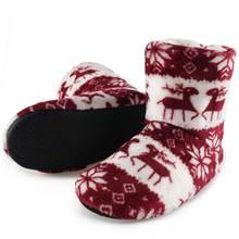 faa1016a21080 Chaussures d hiver femme maison pantoufles noël wapiti intérieur chaussettes  chaussures chaud Contton pantoufle en peluche semel.