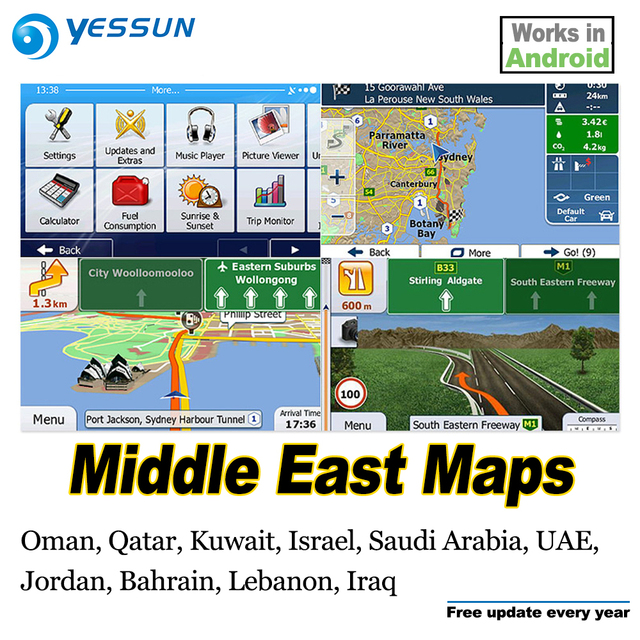 8gb Sd Card Car Gps Navigation Maps Card Android For Middle East Map