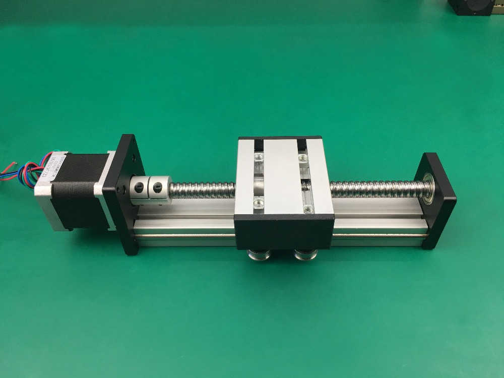 SG Ballscrew 1610 100mm rail Travel Linear Guide + 57 Nema 23 Stepper Motor CNC Stage Linear Motion Moulde Linear toothed belt drive motorized stepper motor precision guide rail manufacturer guideway