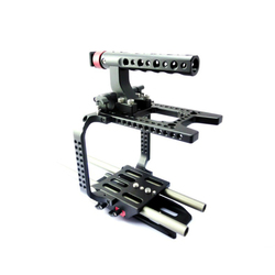 NEW 15mm F5 F55 Rig Kit Cage Top Handle Baseplate for Sony F5 F55 camera 15mm rail system support rig