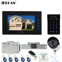 "JERUAN 7"" Video Door Phone intercom System kit waterproof touch Password keyboard Access Camera + 700TVL Analog Camera In stock"