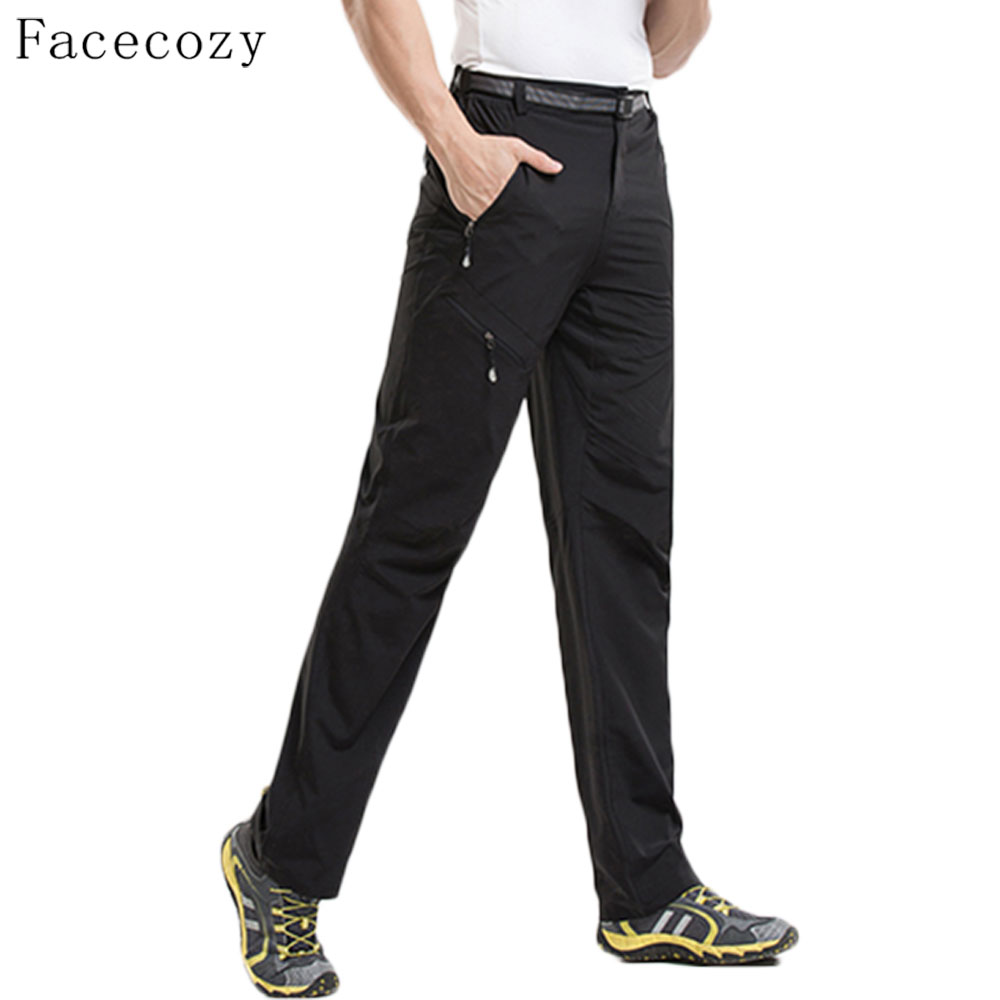 Facecozy Men Summer Quality Outdoor Sports Pants Quick Dry Breathable Pants Wearable Trousers Hiking&Camping Sportswear