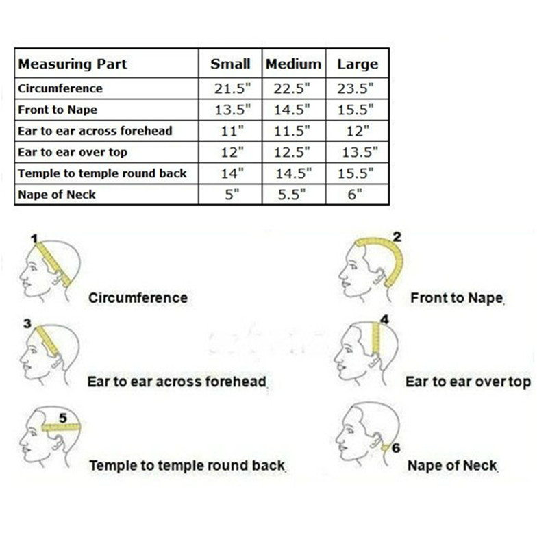 measurement of lace wigs_