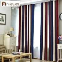 Полузатененная текстурированная занавеска NAPEARL, Затемняющая оконная занавеска, готовые занавески для гостиной, Высококачественная Одиноч...