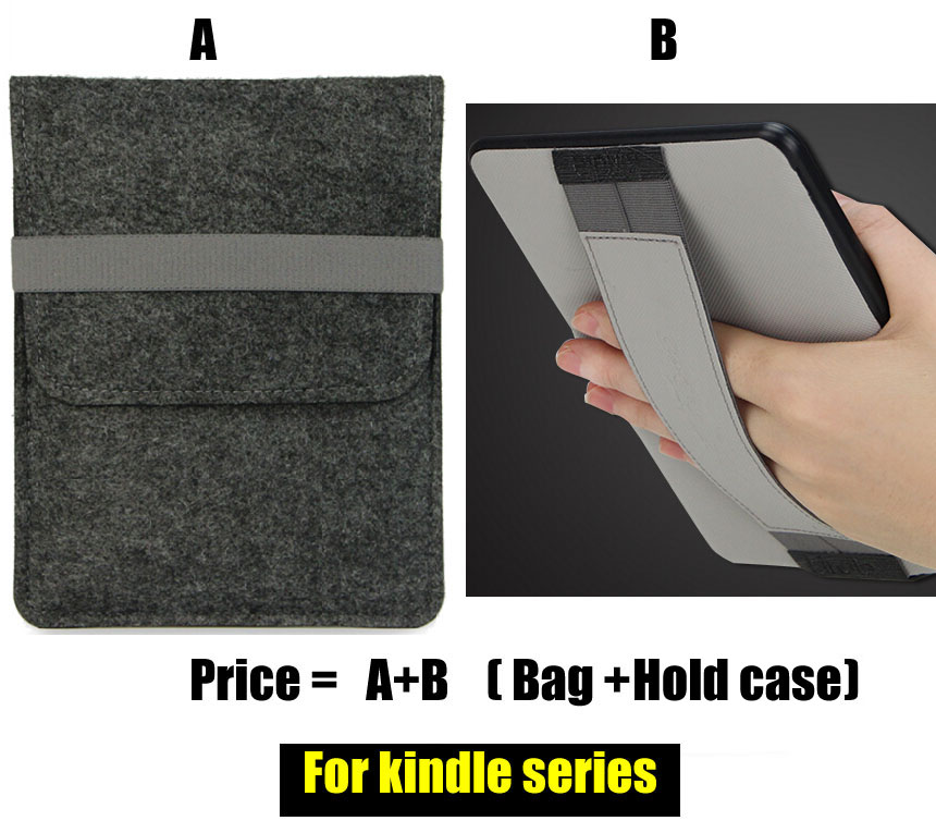 W440 Wool Felt tablet sleeves e-book covers cases for new kindle paperwhite 1 2 3 6 voyage solid sleeve pouch bag for amazon kindle paperwhite kindle voyage new kindle 6 inch cases shockproof e book sleeve cases