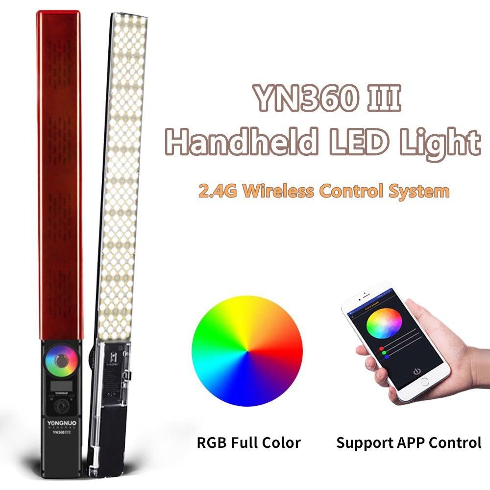 YONGNUO YN360 III YN360III Handheld LED Video Light Touch Adjusting Bi colo 3200k to 5500k RGB