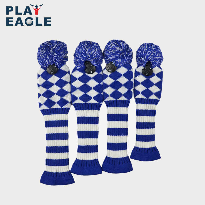 4psc Set Abstract Pattern Knit Golf Club Head Cover For Driver Wood 460cc Fairway Hybrid With Number Tag Golf Club Head Covers Head Coverclub Heads Aliexpress