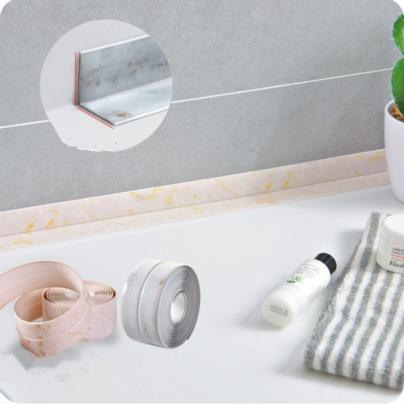 1 Roll 260CM kitchen waterproof mildew proof tape anti-moisture pvc sticker wall line sticker for Bathroom Wall Corner1 Roll 260CM kitchen waterproof mildew proof tape anti-moisture pvc sticker wall line sticker for Bathroom Wall Corner