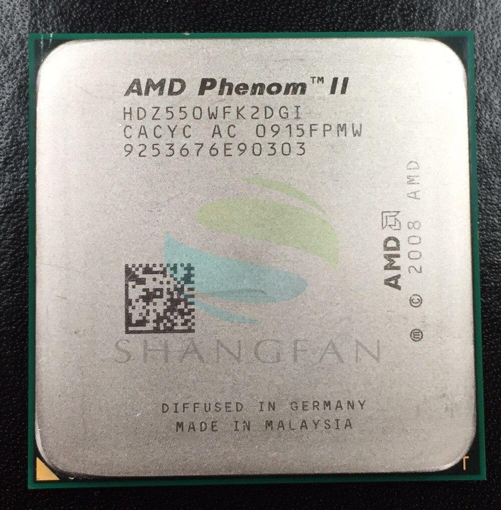 AMD Phenmon X2 550 3.1 GHz Dual-Core CPU Processeur HDZ550WFK2DGI 80 W Socket AM3 938pin