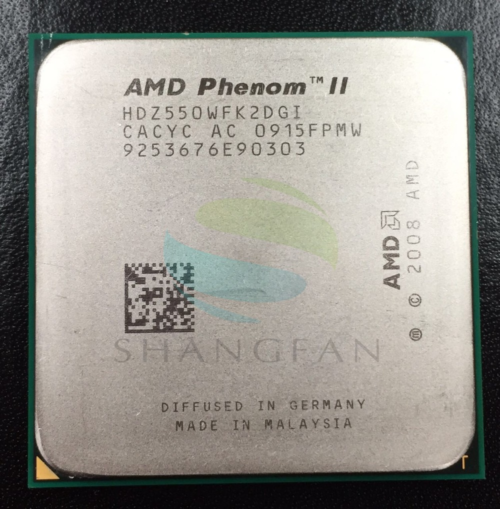 AMD Phenmon X2 550 3.1GHz Dual-Core CPU Processor  HDZ550WFK2DGI 80W Socket AM3 938pin